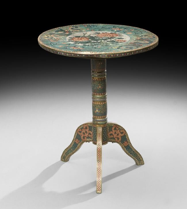 Unusual Chinese Cloisonne Occasional Table
