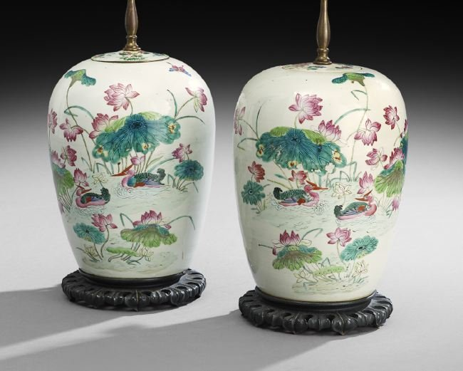 Pair of Chinese Ginger Jars