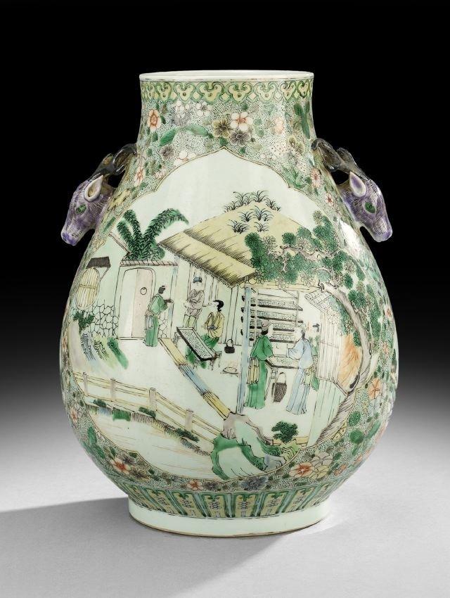 Chinese Porcelain Famille Verte Jar