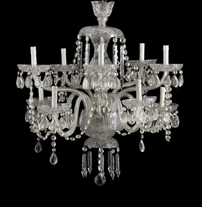 Brilliant Period-Style Cut Glass Chandelier