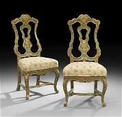 Pair of Italian Polychrome Sidechairs