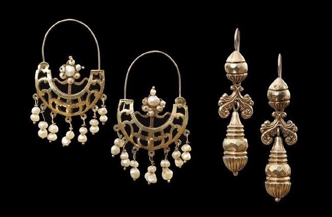 Two Pairs of Middle Eastern Earrings