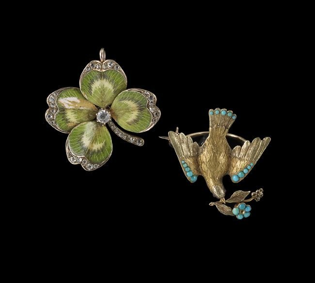 Two 14 Kt. Gold Victorian Brooches
