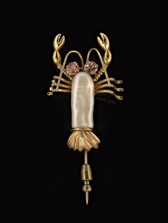 14 Kt. Gold and Pearl Lobster Stick Pin
