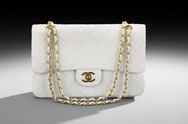 Chanel Classic Quilted White Lambskin Flap Bag