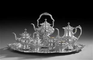 "Seven-Piece ""Francis I"" Sterling Silver Tea Set"