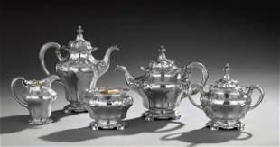 Gorham Martele Five-Piece .958 Silver Tea Service