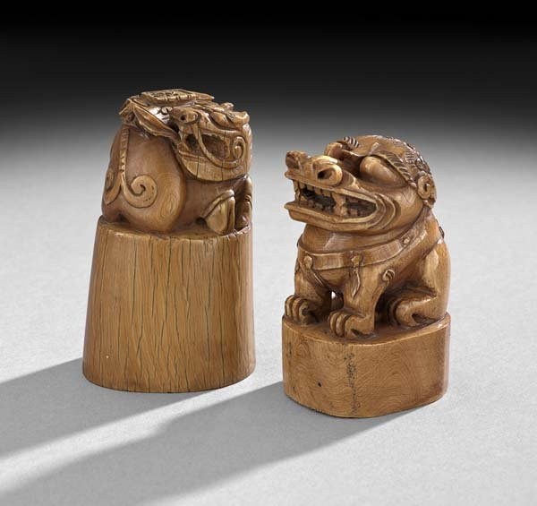 Two Chinese Ivory Seals