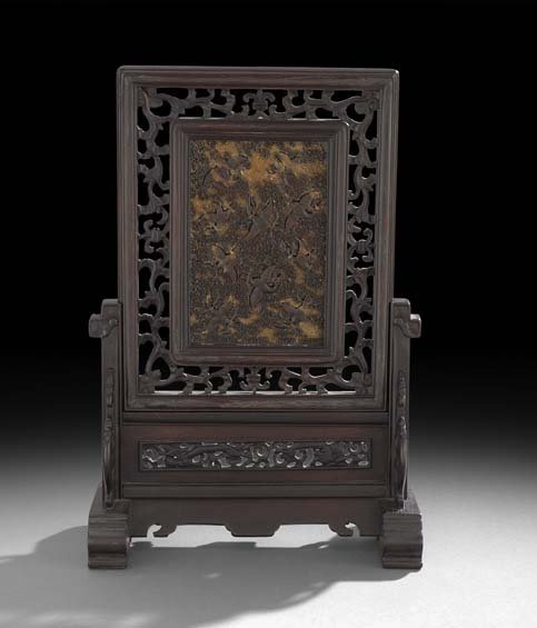 Chinese Tortoiseshell Table Screen