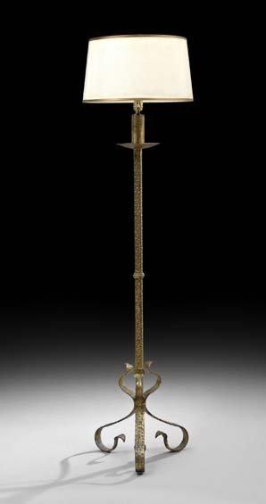 Gilt-Metal Floor Lamp