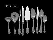 "130 Pcs. Wallace ""Grand Baroque"" Silver Flatware"