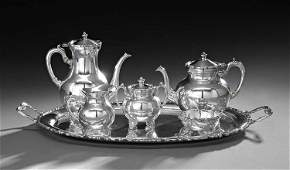 Mexican 6 Pc Sterling Silver Coffee and Tea Set