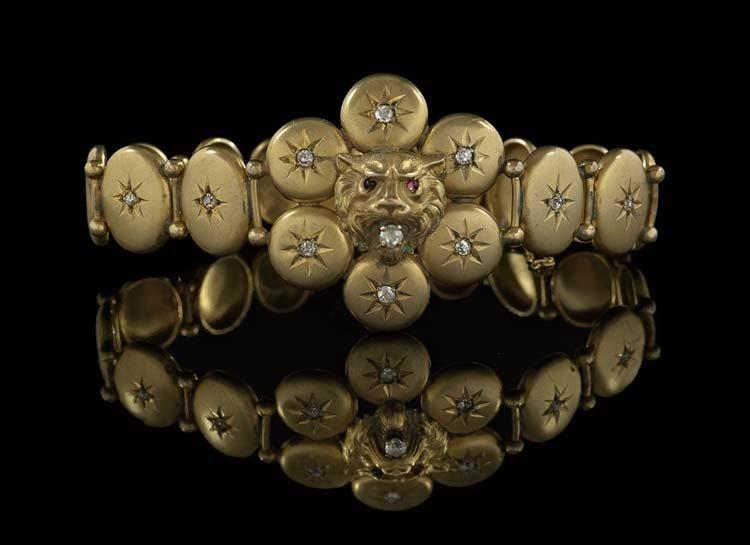 Victorian 14 & 10 Kt. Gold & Diamond Bracelet