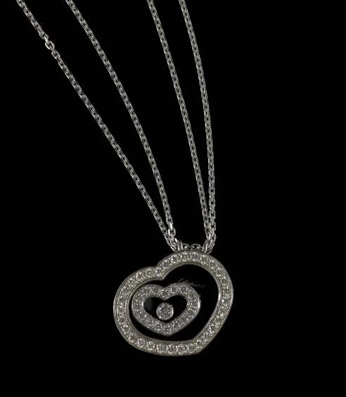 18 Kt. White Gold and Diamond Chopard Necklace