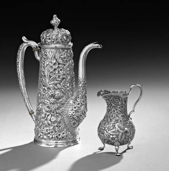 American Silver Coffeepot & Creamer