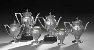 6 Pc. Gorham Aesthetic Period Silver Tea Set