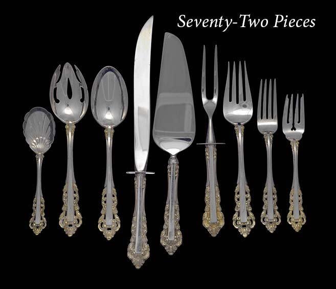"72 Pcs. of Gorham ""New Medici"" Silver Flatware"