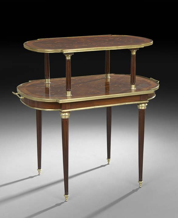 Louis XVI-Style Tiered Center Table