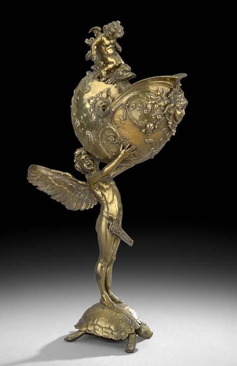 French Belle Epoque Bronze Ewer