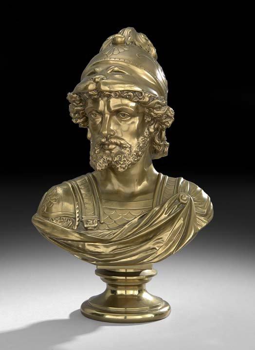 Continental Gilt-Bronze Bust of Hercules