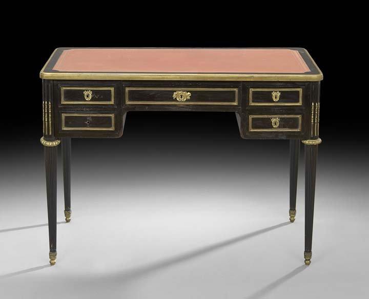 Louis XVI-Style Ebonized Writing Desk
