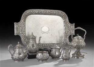 5-Piece Dominick & Haff Sterling Silver Tea Set