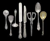 55 Assorted Pieces of American Silver Flatware