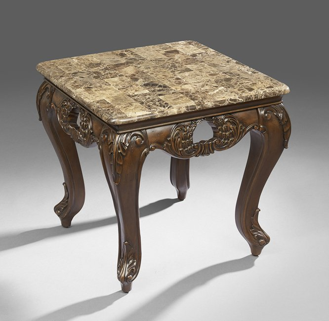 Simulated Marble-Top Occasional Table
