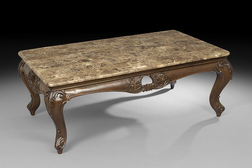 Tuscan-Inspired Cast and Wrought Metal Low Table