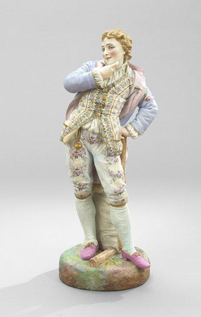 Gille Jeune Tinted Biscuit Figure of a Gentleman