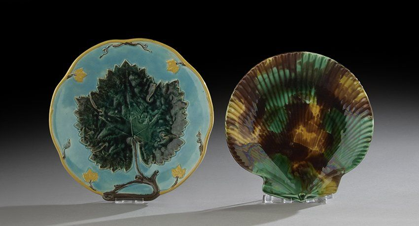 Two Pieces of Victorian Majolica