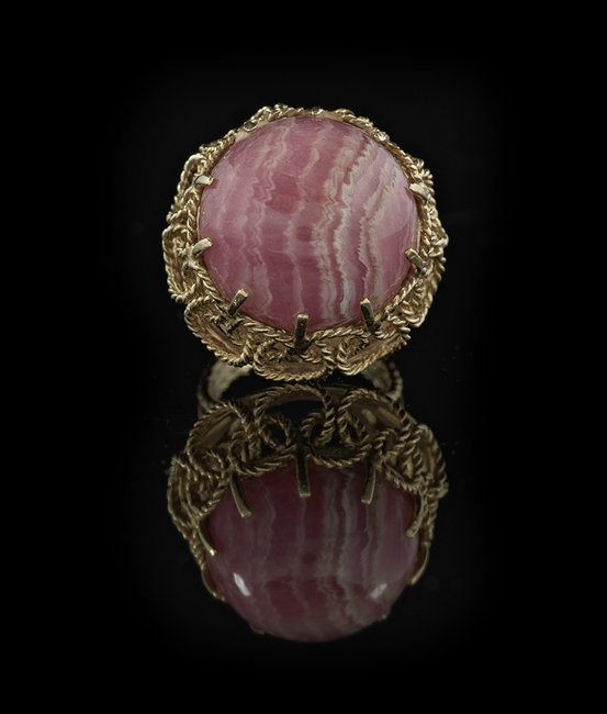 14 Kt. Gold and Rhodochrosite Ring