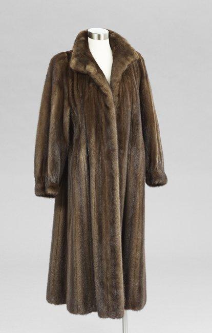Chocolate Brown Mink Swing Coat