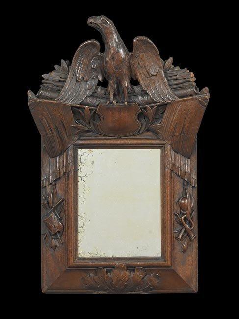 American Folk Art Mirror with Patriotic Motifs