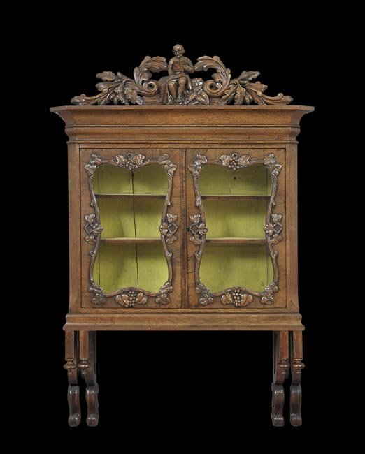 Pair of American Rococo Revival Hanging Cabinets