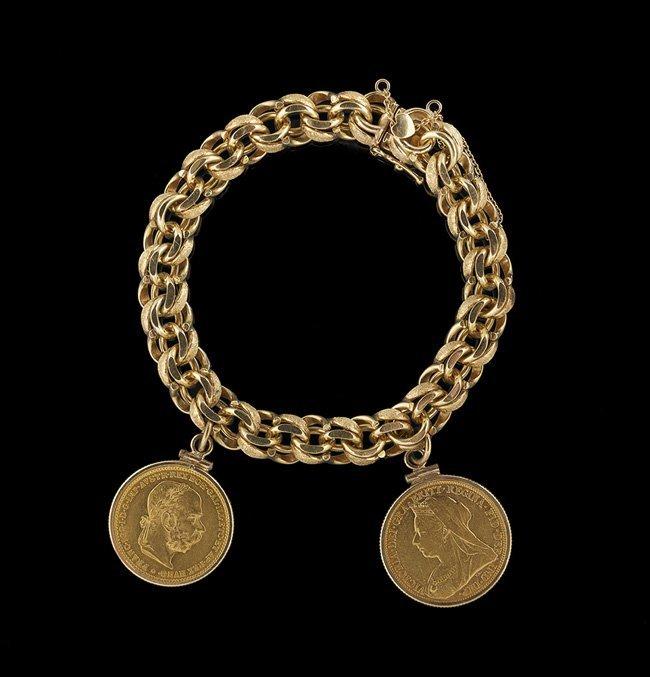 14 Kt. Yellow Gold Charm Bracelet
