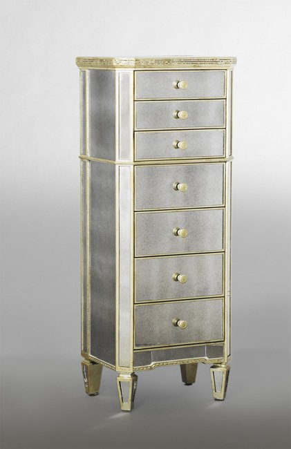 Art Deco-Style Mirrored Lingerie Chest