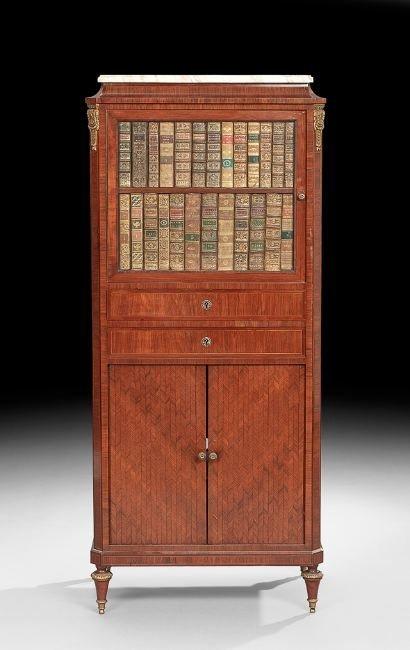 Napoleon III-Style Marble-Top Cabinet