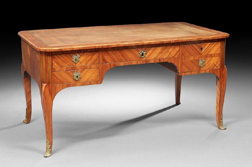 Louis XV-Style Kingwood Desk