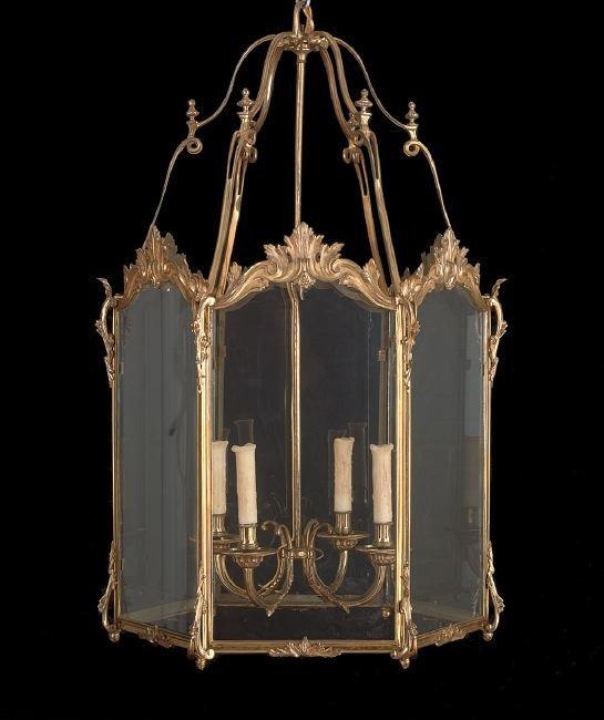 Louis XV-Style Gilt-Bronze Hall Lantern