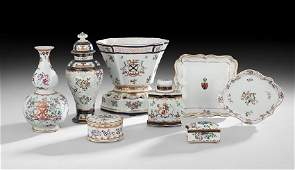 Eight Pieces of ChineseStyle Porcelain