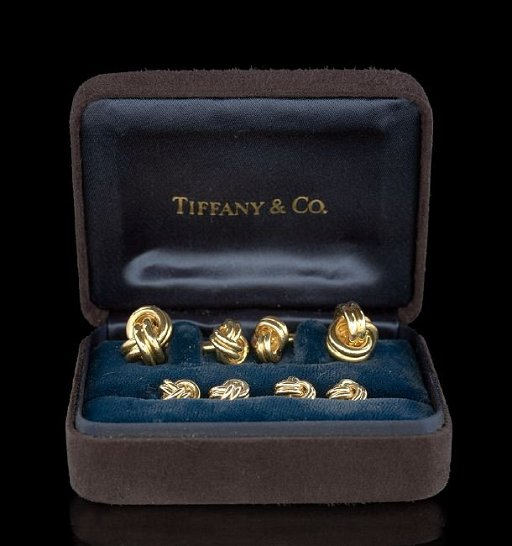 3f5f8253f Tiffany & Co. 18 Kt. Knot Cufflinks and Studs - Oct 12, 2014 | New ...