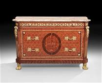 Continental OrmoluMounted MarbleTop Commode