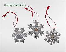 57 American Sterling Silver Christmas Ornaments