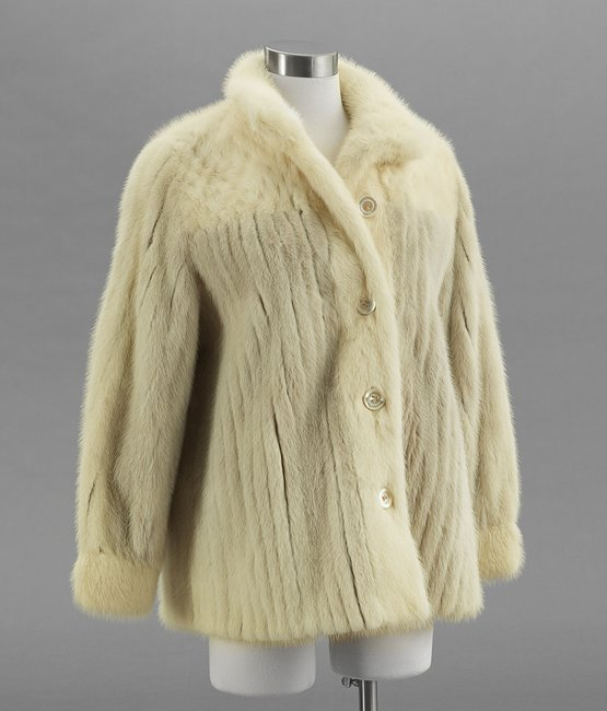 Vintage Pale Taupe and Blond Mink Cardigan Jacket