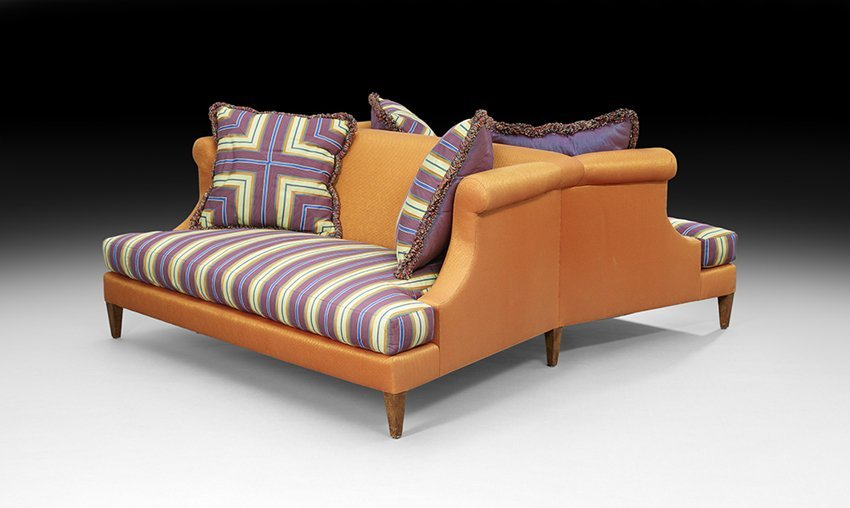Contemporary Double-Sided Sofa by Nancy Corzine