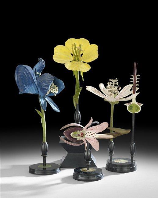 Four R. Brendel Mixed Media Floral Botanic Models - 2