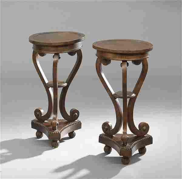 Pair of Regency-Style Mahogany Pedestals