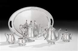 American SixPiece Sterling Silver Tea Set