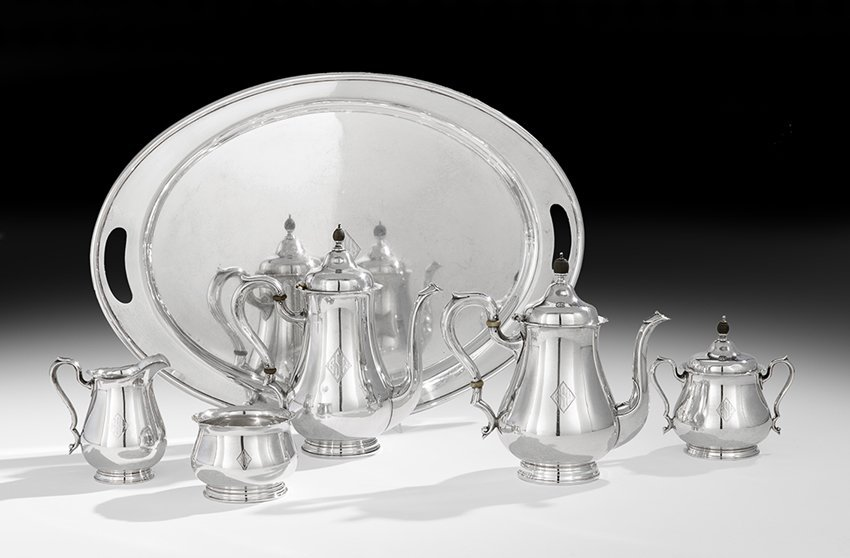 American Six-Piece Sterling Silver Tea Set